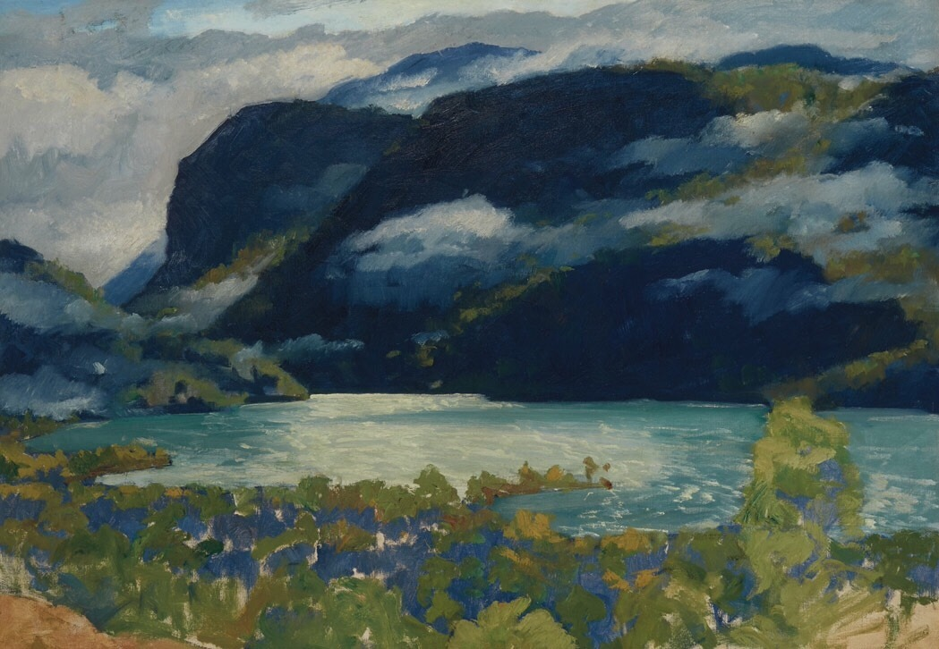 "terminusantequem: "" Jonas Lie (American/Norwegian, 1880-1940), A Norwegian Fjord, c.1910s-20s. Oil on canvas, 35 x 50 in. """