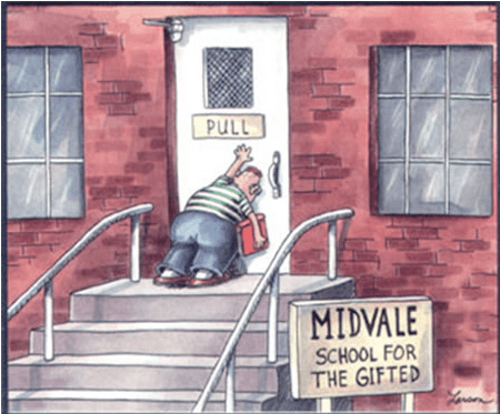 Midvale School for the gifted by Gary Larson