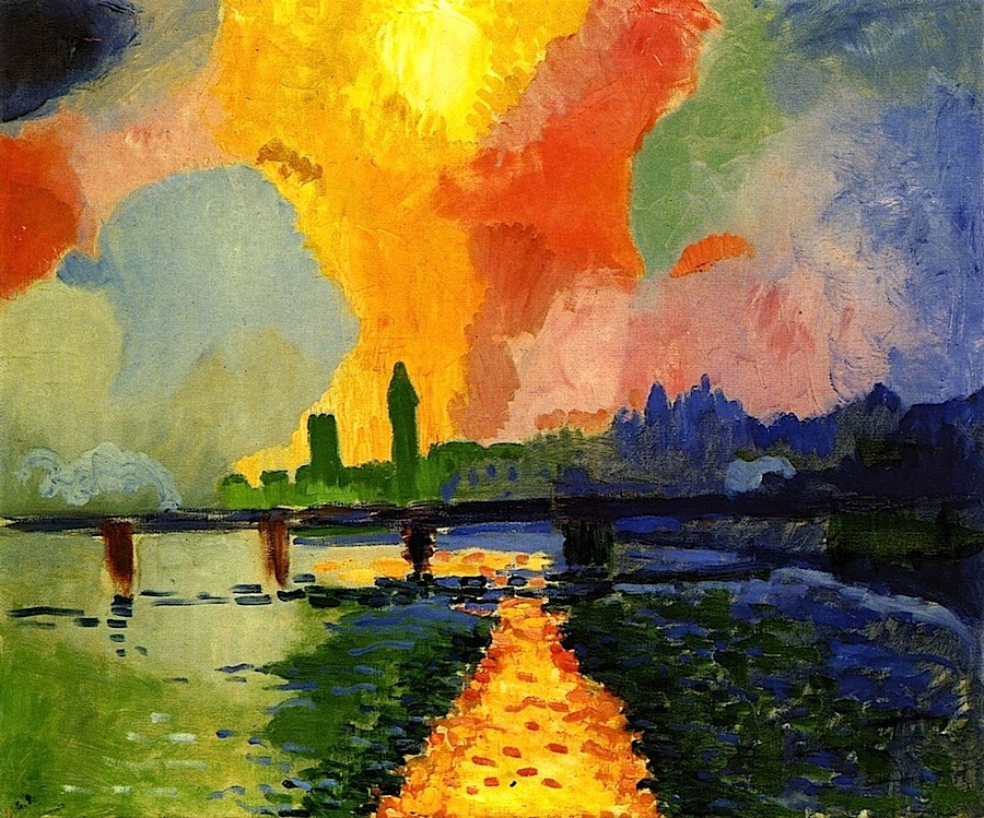 "terminusantequem: "" André Derain (French, 1880-1954), Charing Cross Bridge, 1906 """