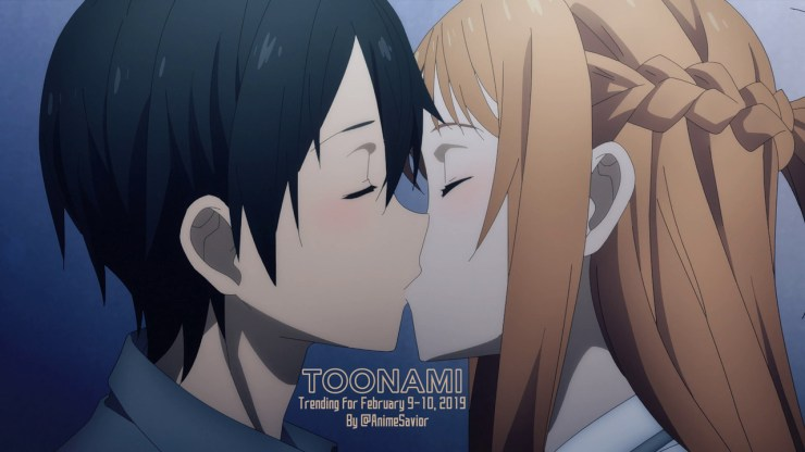 """""Of course [Kirito], I'll go anywhere with you. It doesn't matter where, I'll go."" - Asuna Yuuki, Sword Art Online: Alicization (Ep. 01) "" The Toonami Trending Rundown for February 9-10, 2019. After a 3 year hiatus, Kirito and Asuna make their..."