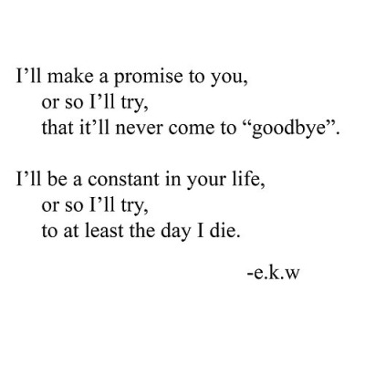 love you forever poems promise
