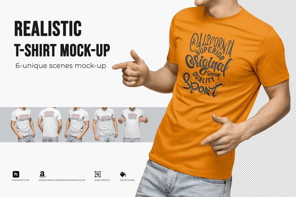 Download DESIGN MOCKUPS - Realistic T-Shirt Mock-Ups • $8 6 unique ...