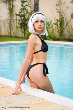 hotcosplaychicks:  2B [Pool Party] I by RizzyCosArt  Check out http://hotcosplaychicks.tumblr.com for more awesome cosplayWe're on Facebook!https://www.facebook.com/hotcosplaychicks