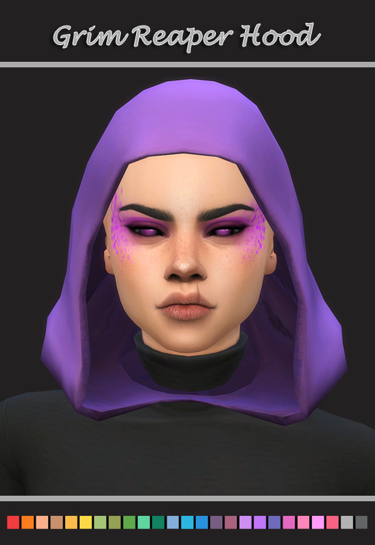 Grim Reaper Hood Sims 4 I Just Edited The Hood Silly