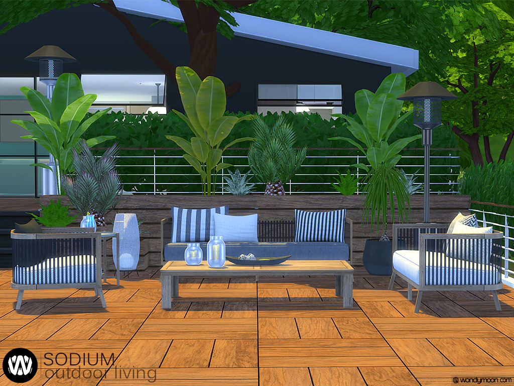 Sims 4 cc Finds - wondymoondesign: Sodium Outdoor Living ... on Cc Outdoor Living id=41903