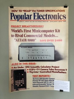Popular Electronics Ausgabe mit dem Altair 8800