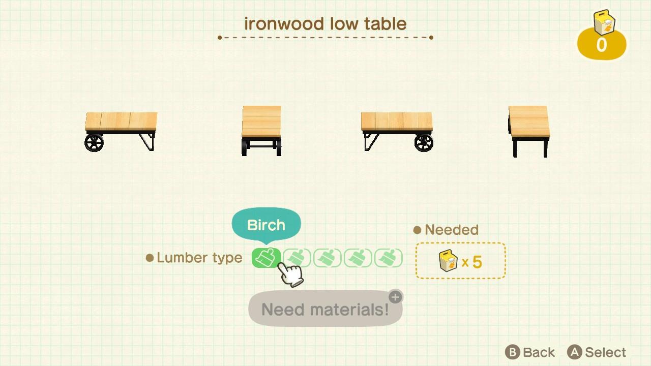 ironwood furniture | Tumblr on Ironwood Furniture Animal Crossing  id=44214