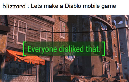 Diablo mobile game meme