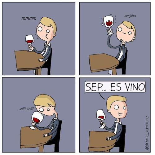 Catador de vino honesto