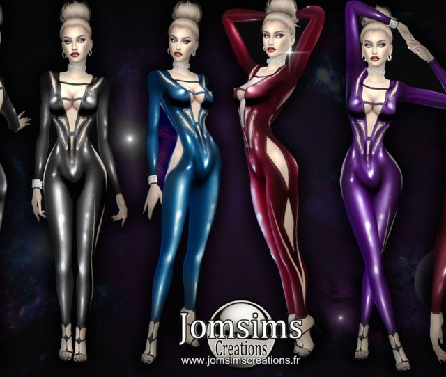 Love  Cc Finds Jomsimscreations Xayas Jumpsuit Sims  Pour