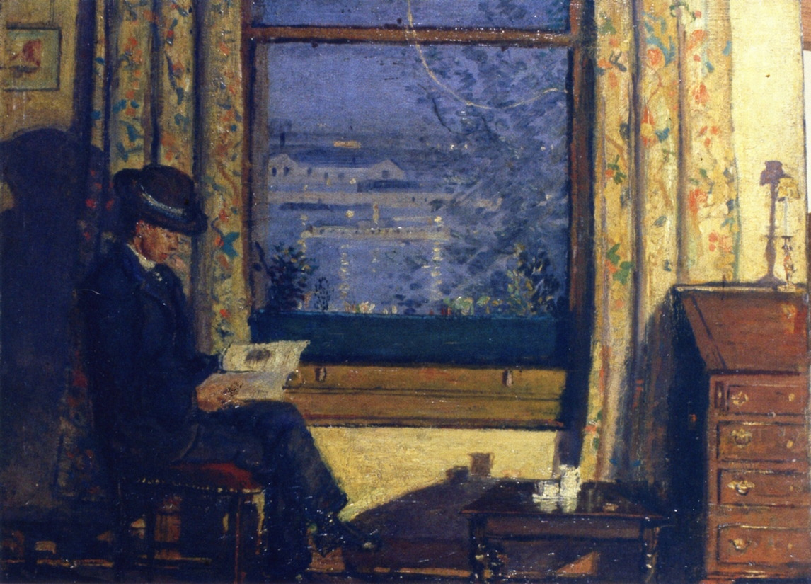 "huariqueje: "" Moonlight and Lamplight, Portrait Derwent Lees - James Dickson Innes , 1907 British, 1887-1914 Oil on canvas , 40.6 cm (15.98 in.) x 50.8 cm (20 in.) """