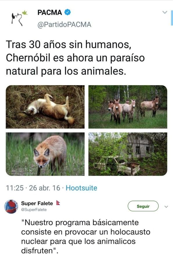 Chernóbil es un paraíso