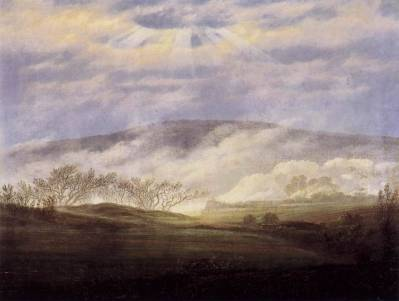Caspar Friedrich — Fog in the Elbe Valley, 1821, Caspar David...