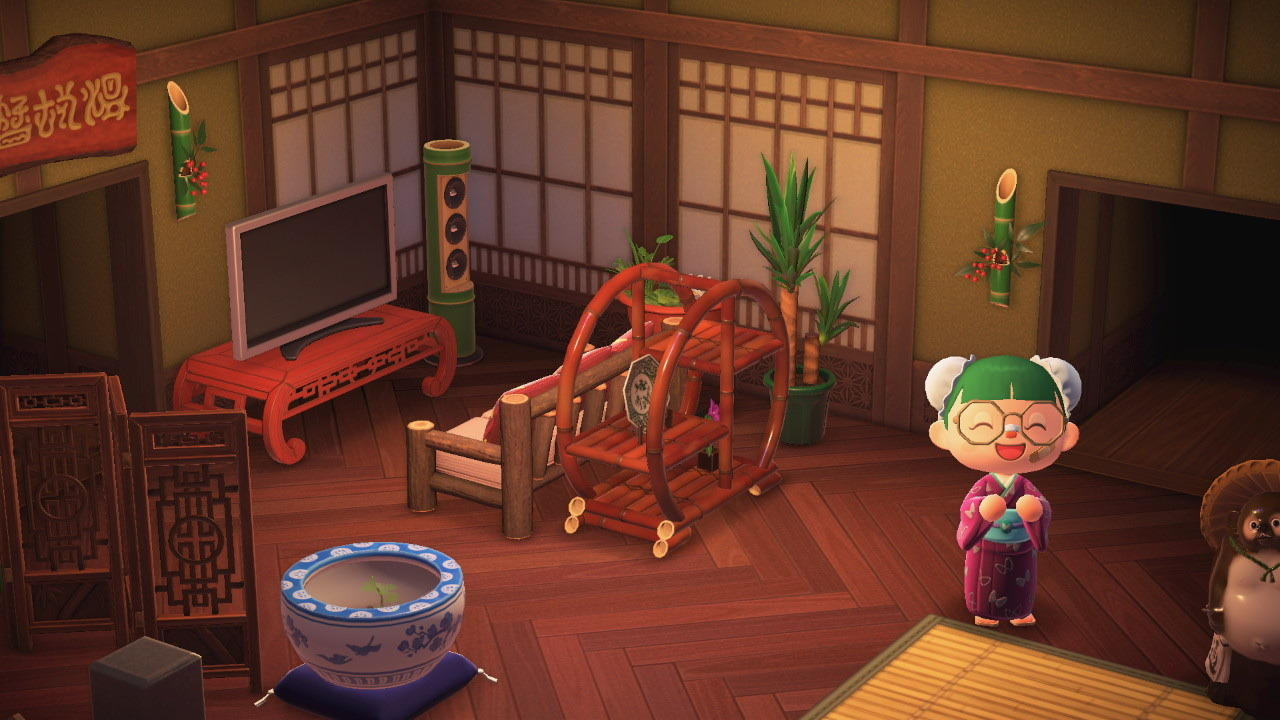 Animal Crossing Life — hootcrossing: yeah and I brought my ... on Living Room Animal Crossing New Horizons  id=11232