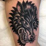 Traditional Tattoo Wolf Head Tattoo Designs Ideas