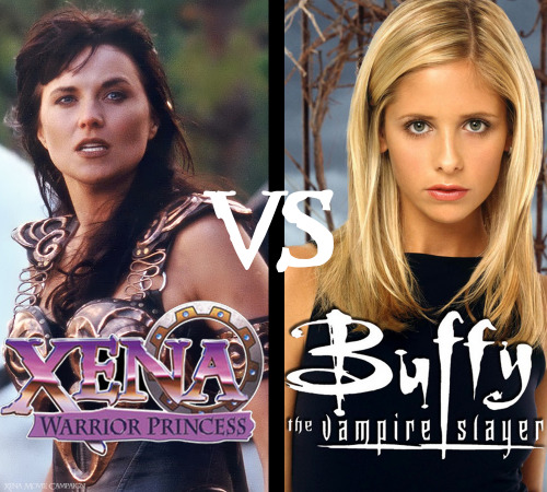 Image result for Xena vs Buffy