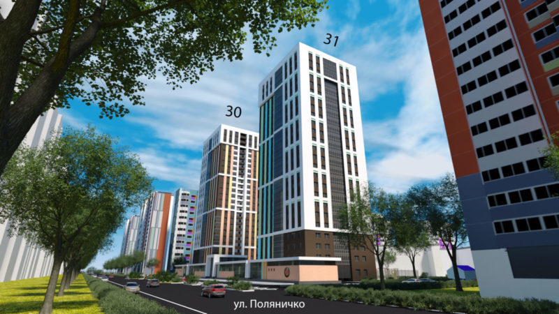 г. Оренбург, 25-этажные дома комфорт-класса в 16-м мкрн