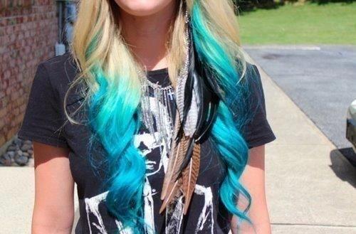 Turquoise Dip Dye On Tumblr