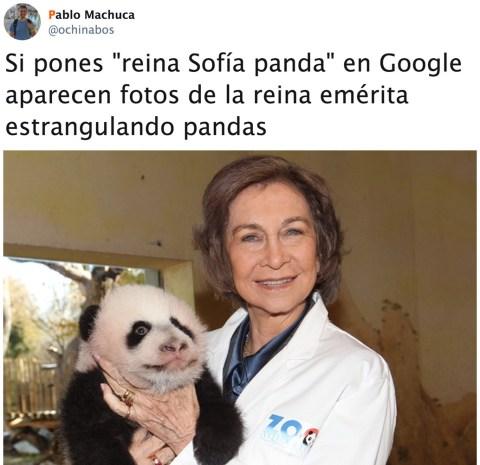 La Reina Sofía y los pandas