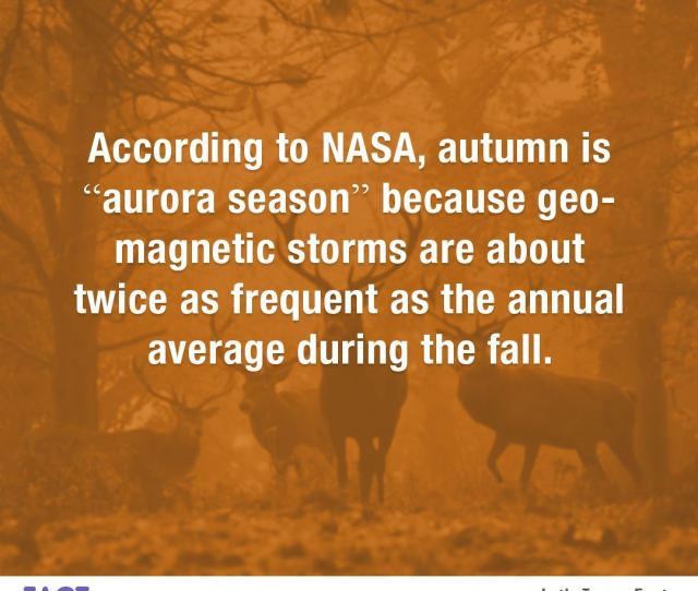 According To Nasa Autumn Is Aurora Season Because Geomagnetic Storms Are About Twice As Frequent As The Annual Average During The Fall Random Fact