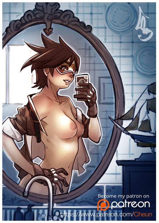 Tracer in a Mirror