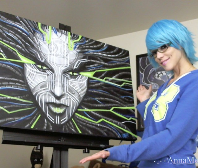 Theclosetfixer Webcam Model Anna Molli Showing Off Her Recent Finished Painting Of The