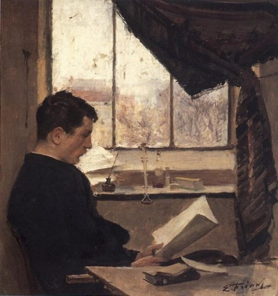"""huariqueje: """" A Student (also known as Self-portrait) - Émile Friant - 1885 French, 1863-1932 Musée des Beaux-Arts de Nancy ,France """""""