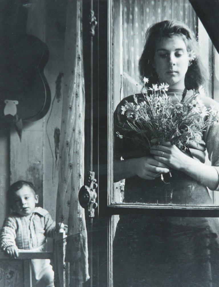 """poboh:"""" Femme aux fleurs à la fenêtre, 1950, Edouard Boubat. French (1923 - 1999)"""""""