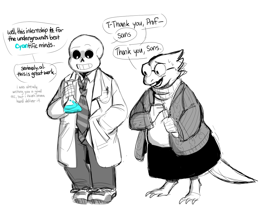 Request For Science Sans And Alphys I M Sorry My