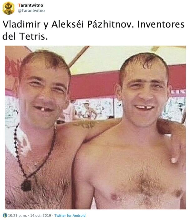 Estos son sin duda los rusos inventores del Tetris