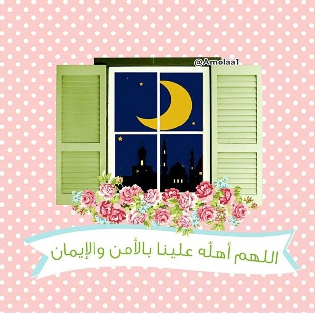 أم هاني الله أكبر اللهم أهله علينا بالأمن والإيمان