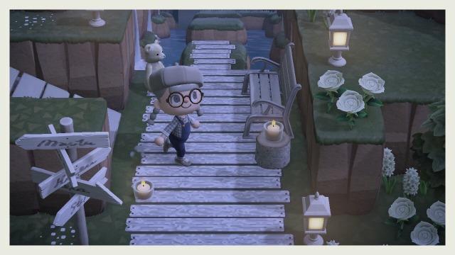 Animal Crossing New Horizon Paths — White wood planks ... on Animal Crossing New Horizons Wood Design  id=14206