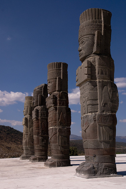 Toltec Warriors Columns In The Ancient City Of It S A