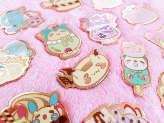 125bd184 Pokemon Dessert Pins made by toby2moodring – Nostalgia
