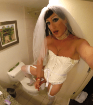 non passable bride in the toilet