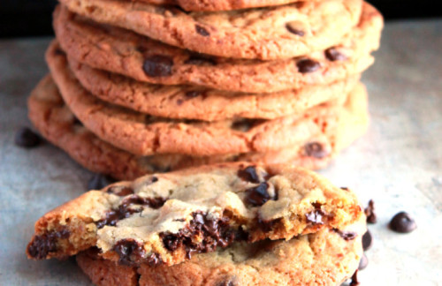 This recipe for Chocolate Chip Cookies is my idea of a perfect cookie. They are crisp on the outside, soft and chewy on the inside and full of buttery goodness.