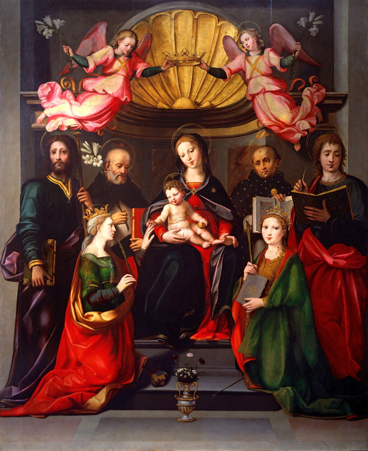 Image result for ghirlandaio mystical marriage of st. catherine