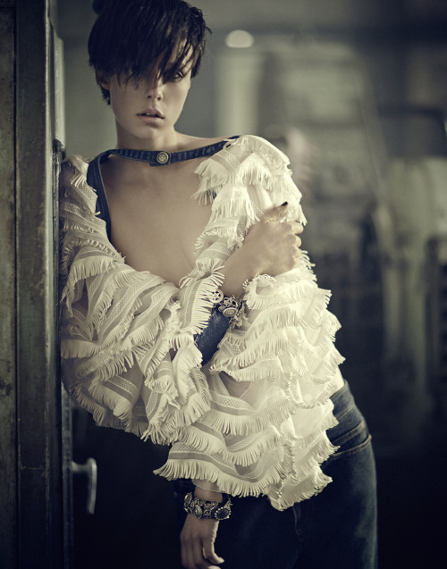 """margadirube: """" stormtrooperfashion:Edie Campbell in """"The Thought Of Independence"""" by Boo George for Vogue Japan, August 2014 """""""