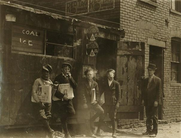 Newspaper Boys Taking A Smoke Break St Louis Missouri