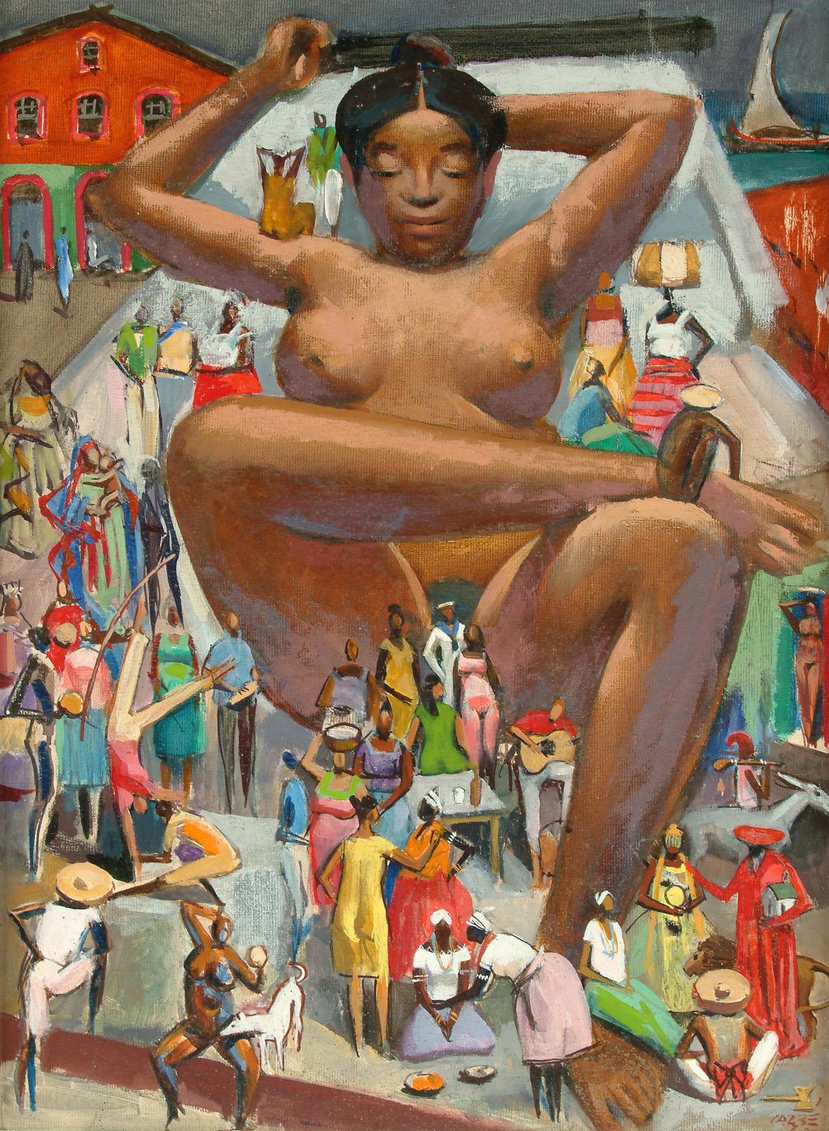 """mercurionaveia: """" Carybé  Mulata Grande, 1980 Óleo sobre tela 61 x 45 cm =-=-=-=-=-=-=-==-=-=-= Carybé É argentino, é brasileiro É quichua, é asteca, é Inca, é carioca por bossa Mas é baiano por fé. É amigo do mundo inteiro Menos de quem não dá..."""