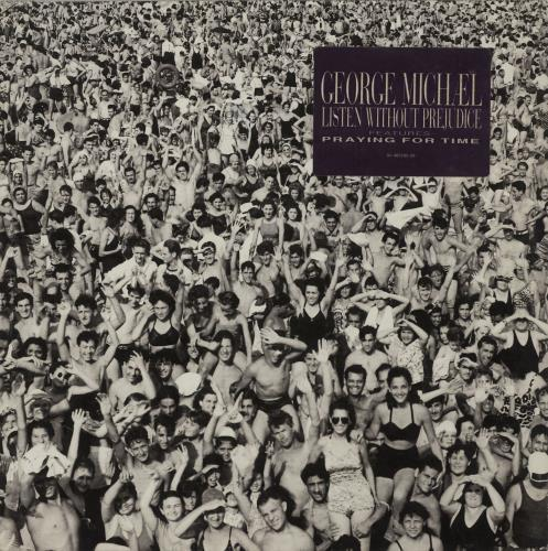 George Michael Listen Without Prejudice + Sticker - EX vinyl LP album (LP record) UK GEOLPLI671386