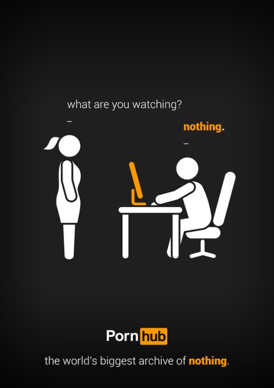 advertisement for pornhub.com