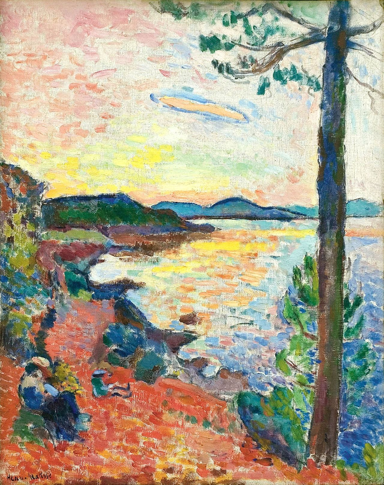 "urgetocreate: "" Henri Matisse, The Gulf of Saint Tropez, 1904, Oil on canvas, 25 5/8 x 19 7/8 in. """