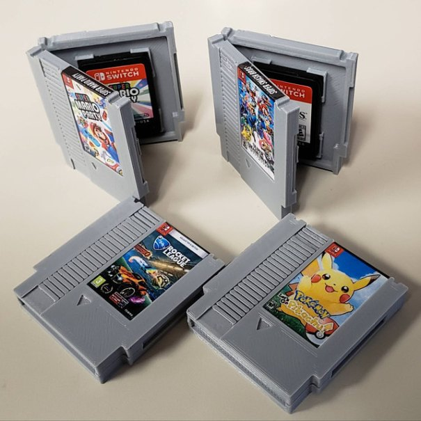 Mini NES Cartridge Nintendo Switch Game Cases made by