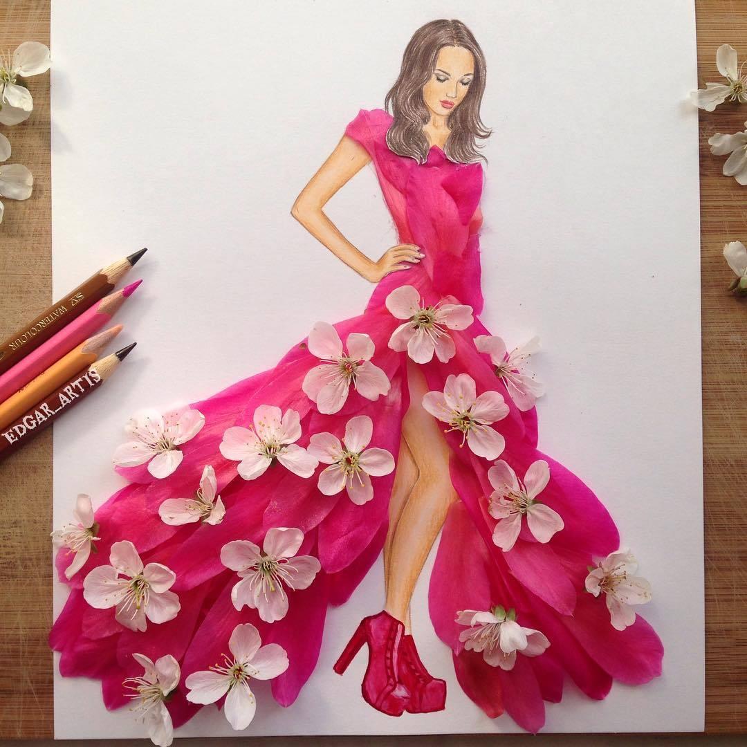 Illustration Art Popular Life Fashion Dress Design