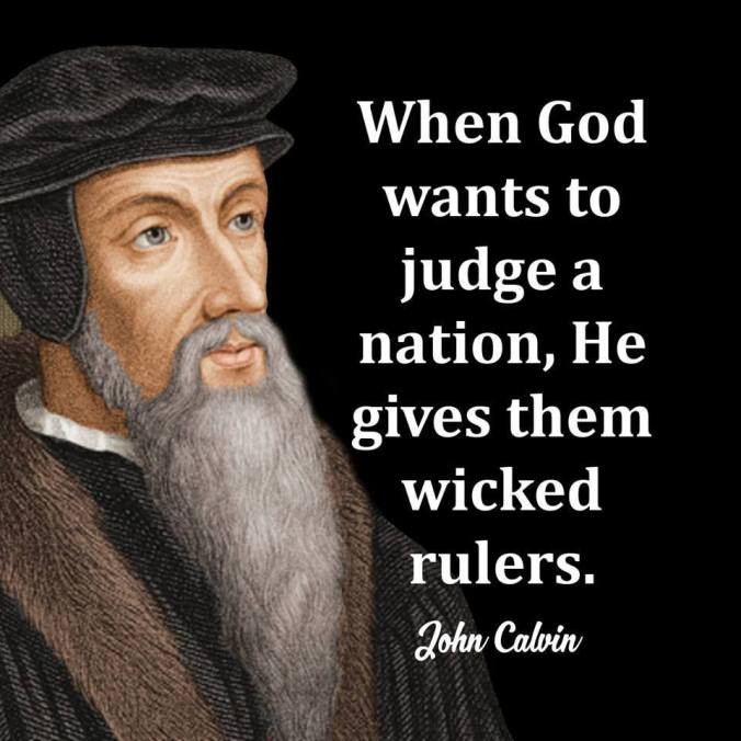 Image result for john calvin wicked rulers
