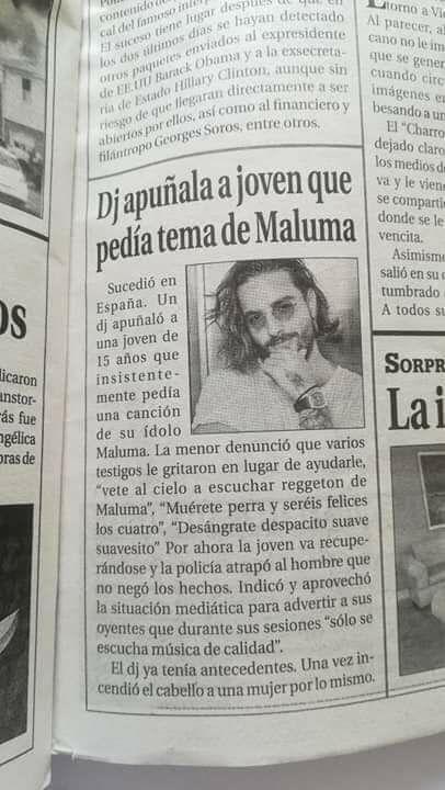 Apuñalado por pedir a Maluma