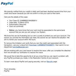 paypal chargeback scams