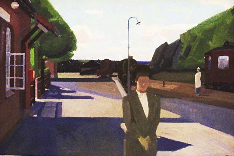 "lilithsplace: "" Girls waiting for the train, 1939 - Erik Raadal (1905–1941) """