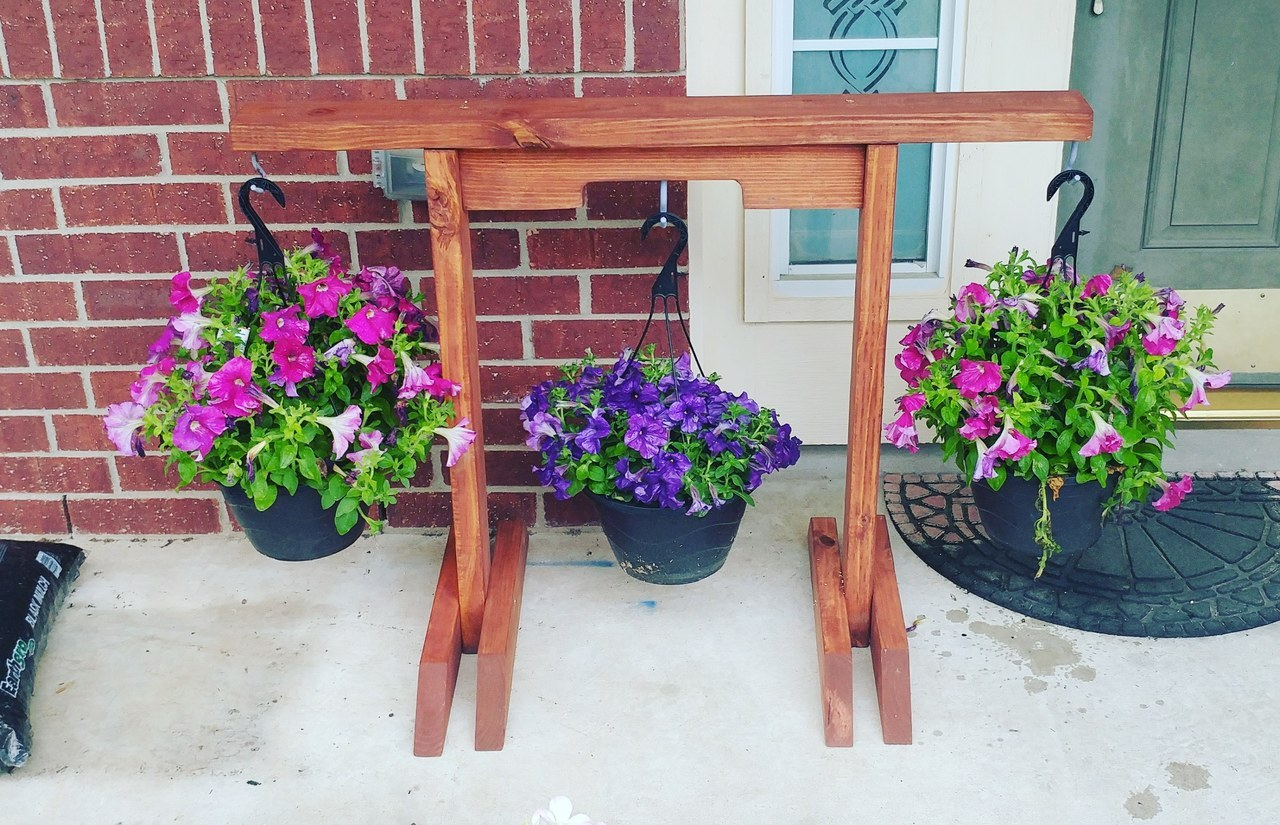 Dad Art — Plant stand for hanging plants. Reclaimed wood... on Stand For Hanging Plants  id=57555